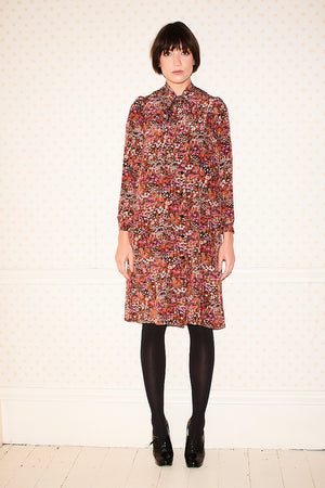 Liberty print Silk Polly Pearl Lowe dress