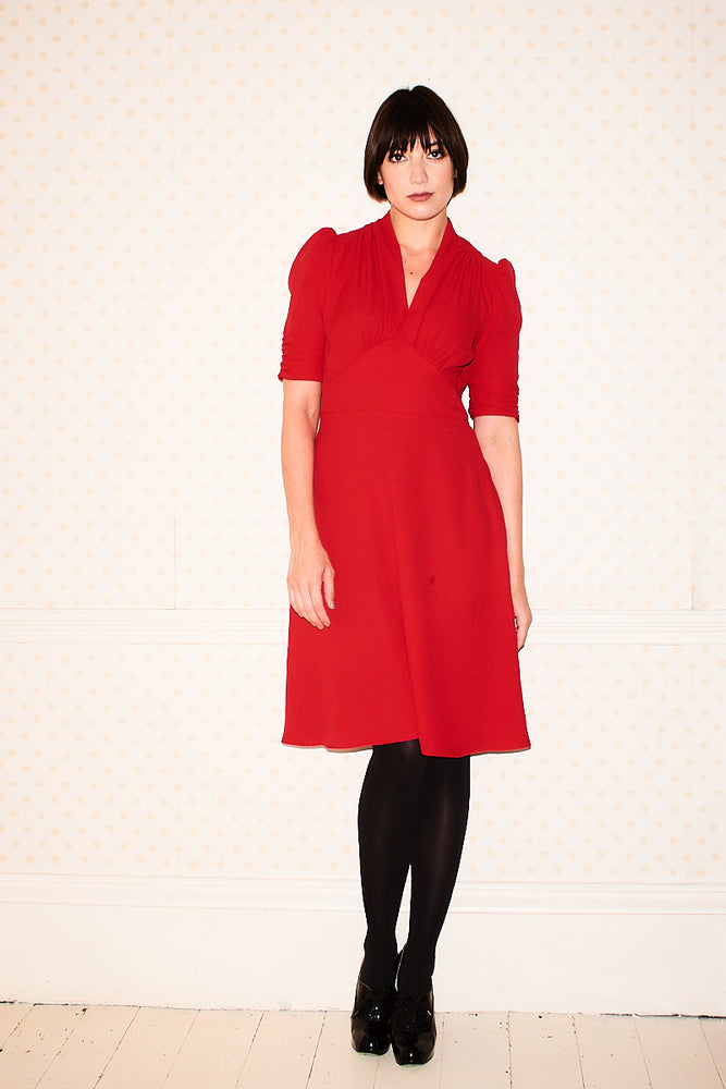 Marylin Red Pearl Lowe Dress