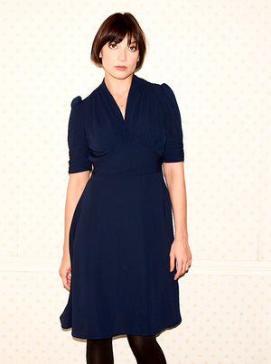 Marylin Navy Pearl Lowe Dress