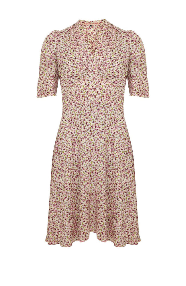 Floral Marilyn Pearl Lowe Pink Dress