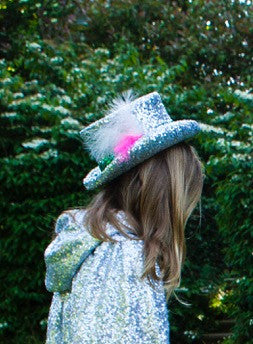 Silver Sequin Hat