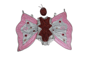 Silk Net Fuchsia & Grey Butterfly - SOLD OUT