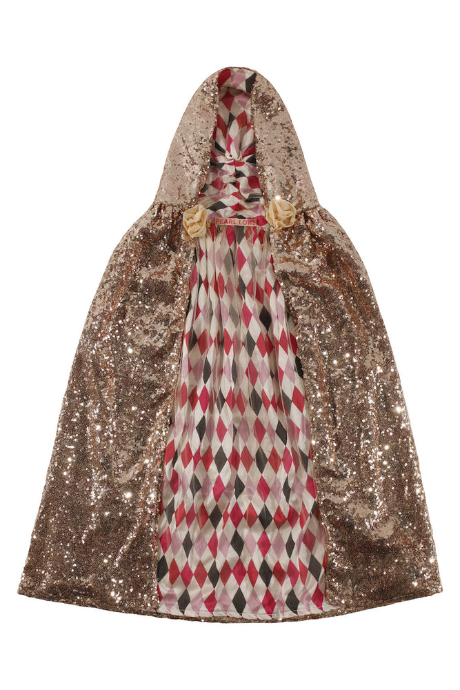 Gold Sequin Cape