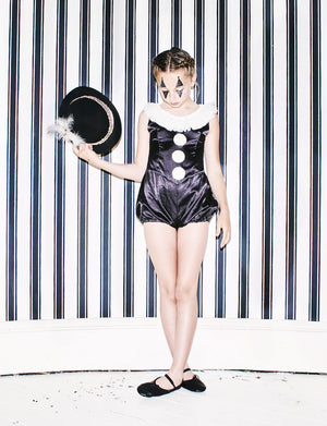Black Pierrot Short Suit