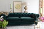 The Elara Collection Sofa by Cotswold Grey with colourful flowers and furniture