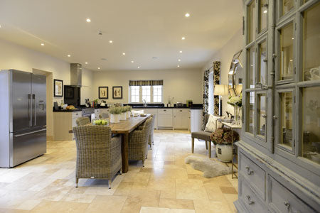 The kitchen of the Laurels a beautiful self catered home by Cotswold Grey.