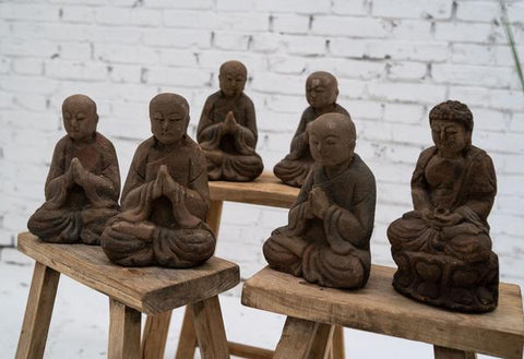Small buddhist statues from Asia by Cotswold Grey