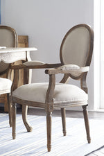Montpellier Chair - Weathered With Natural Linen