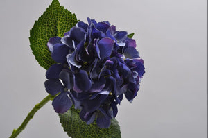 Load image into Gallery viewer, Purple Hydrangea Stem 38cm