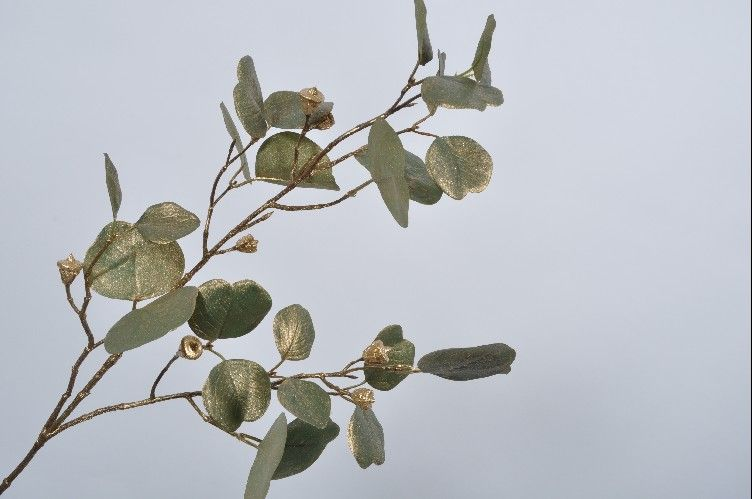 Gold Eucalyptus Spray 81cm
