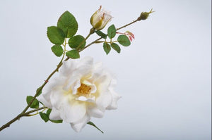 Load image into Gallery viewer, Cream Rose Spray 64cm