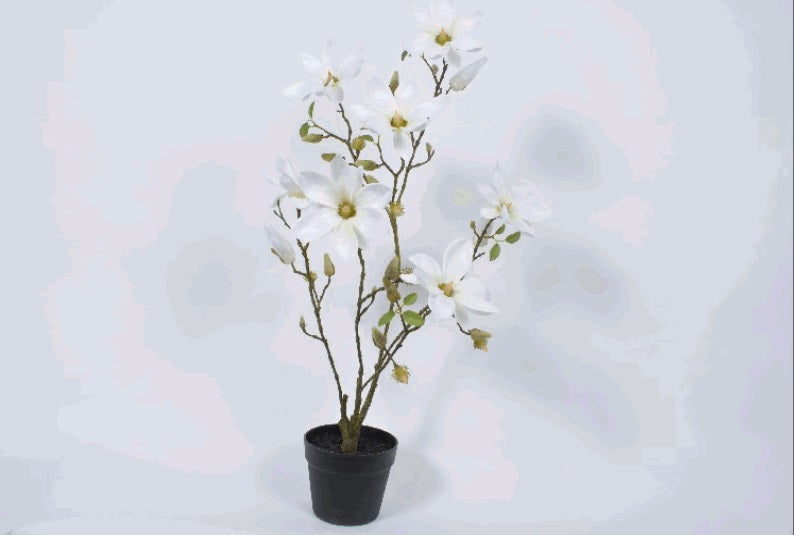 Artificial Magnolia Tree With Pot 88cm