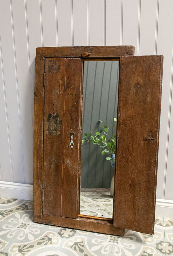Wooden Window Mirror No 19