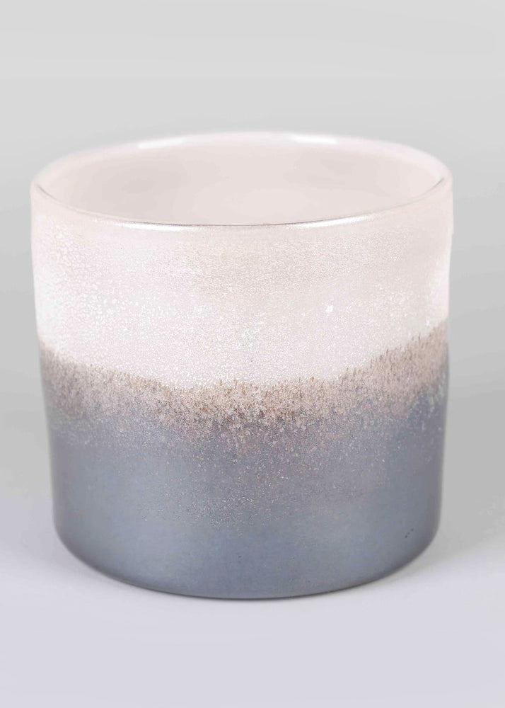 Earth & Sky Blush Glass Candle Holder