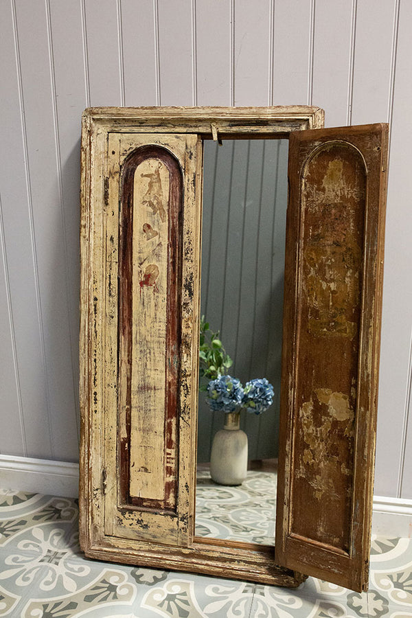 Wooden Window Mirror No 23