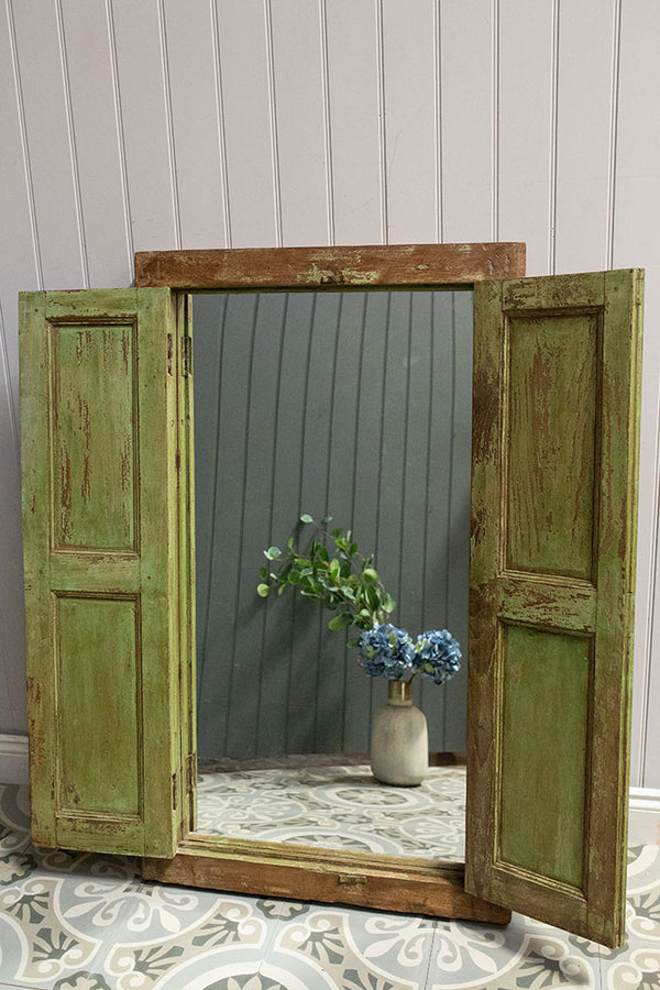 Wooden Window Mirror No 24