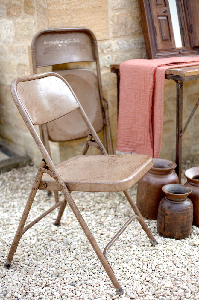 Iron Foldaway Chair - Brown