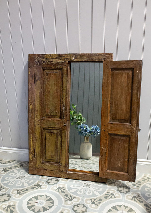 Wooden Window Mirror No 26