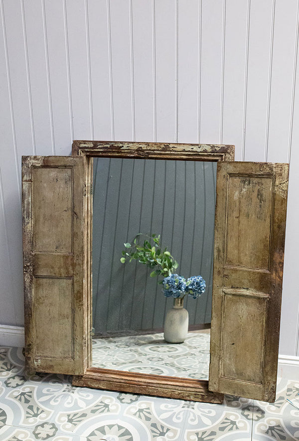 Wooden Window Mirror No 27