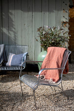 Iron Garden Chair - Silver and Black