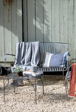 Iron Garden Bench - Silver and Black