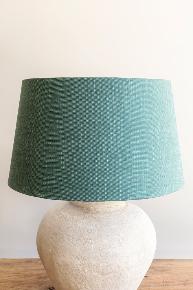 Load image into Gallery viewer, Empire Shade 36/44cm -  Aqua Linen Blend