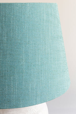 Empire Shade 36/44cm -  Aqua Linen Blend
