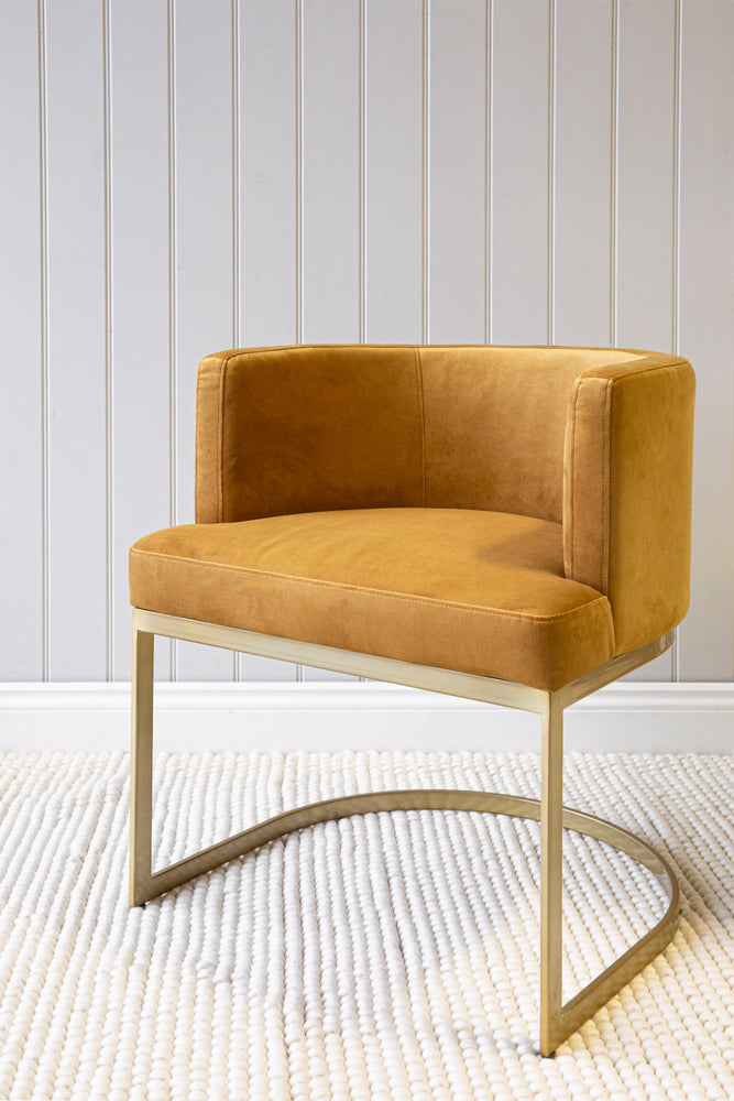 Load image into Gallery viewer, Broadway Dining Chair - Gold Velvet