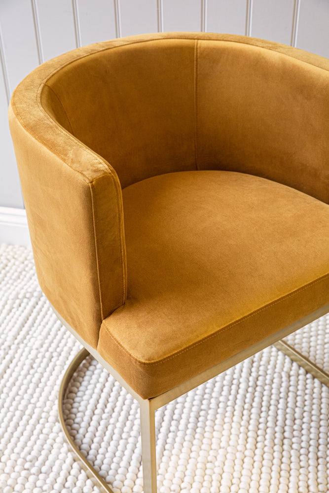 Broadway Dining Chair - Gold Velvet