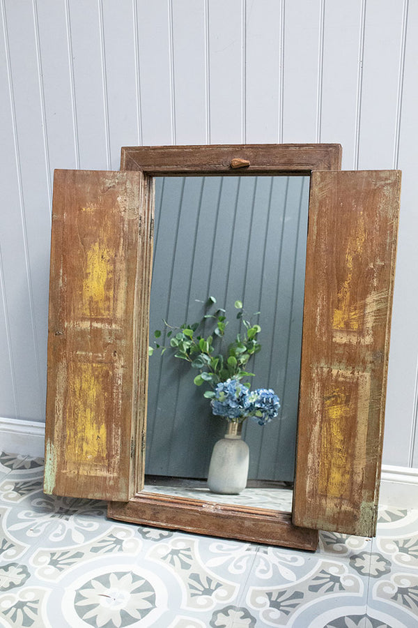 Wooden Window Mirror No 6