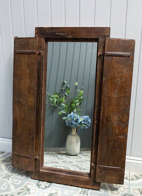 Wooden Window Mirror No 7