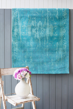 Load image into Gallery viewer, Ava Sea Blue Rug - (Sizes Available)