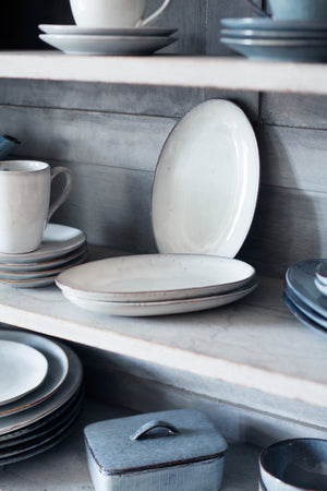 Broste Nordic Sand Oval Plate