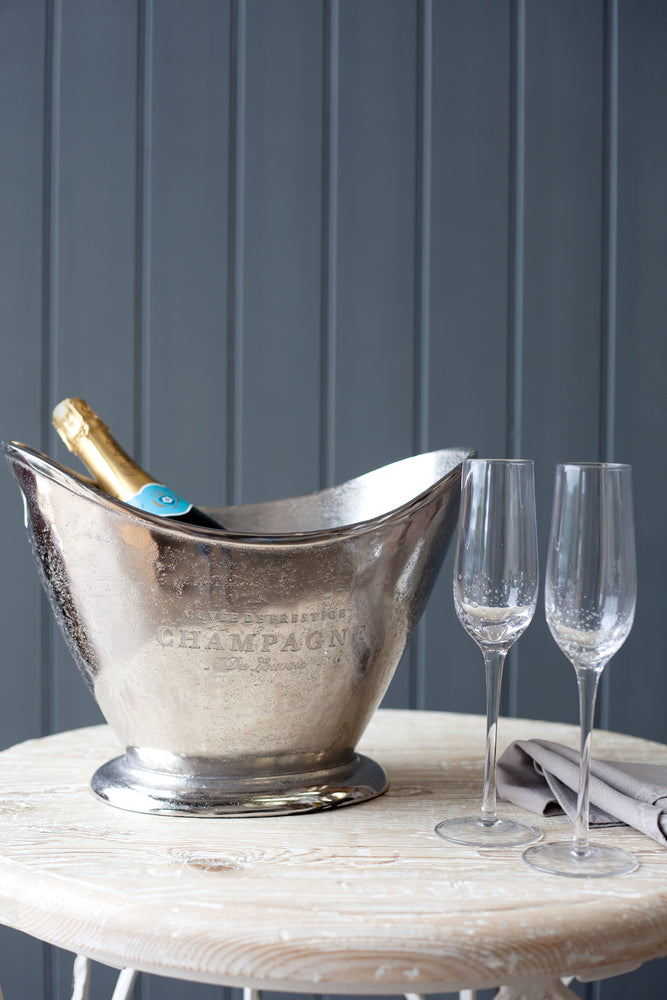 Bubbles Champagne Bucket - Nickel