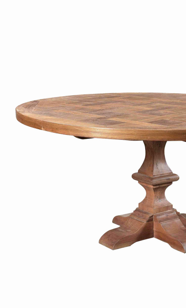 Wooden Round Parquet Dining Table