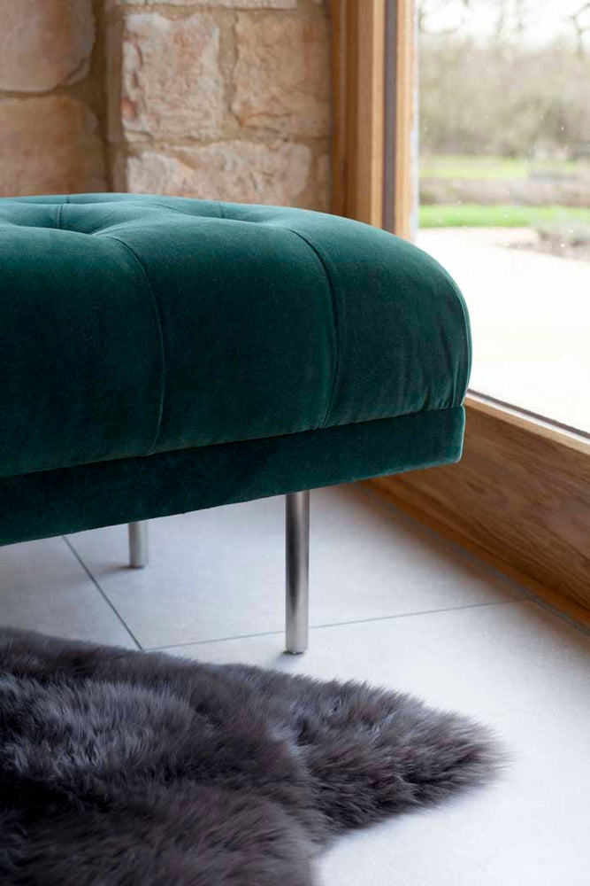 Load image into Gallery viewer, Carme Ottoman - Velvet Pine