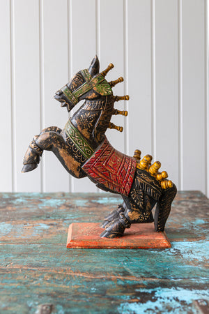 Wooden Carousel Horse Statue