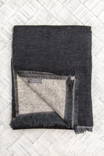 Cashmere Throw - Black and Brown