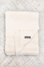 Cashmere Throw - Cream Zigzag