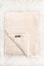 Cashmere Throw - White and Sand
