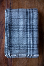 Cashmere Throw - Charcoal Tartan