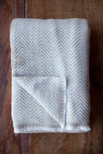 Cashmere Throw - Fawn Chevron