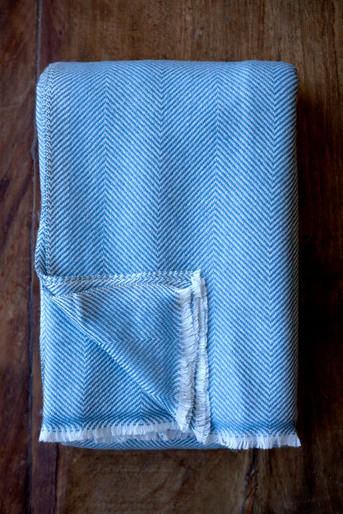 Cashmere Throw - Sky Blue