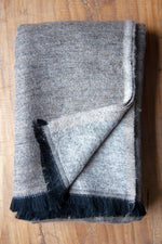 Cashmere Throw - Brown and Grey
