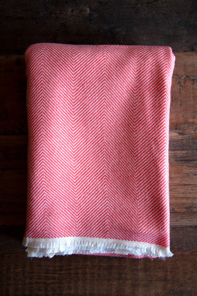 Cashmere Throw - Coral