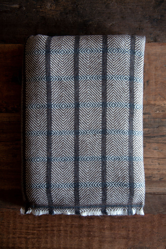 Cashmere Throw - Grey Brown