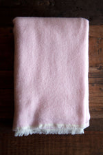 Cashmere Throw - Pale Pink