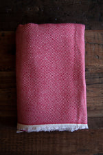 Cashmere Throw - Red