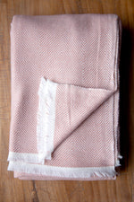 Cashmere Throw - Salmon Pink
