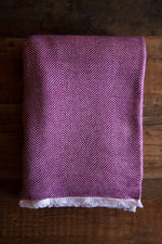 Cashmere Throw - Wine